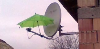 chuva antena parabolica sem sinal