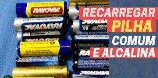 recarregar pilhas alcalinas comuns