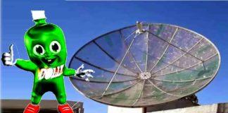 antena parabolica garrafa pet
