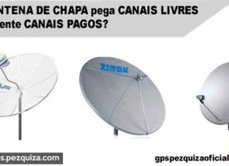 antena de chapa focal point parabolica canais livres