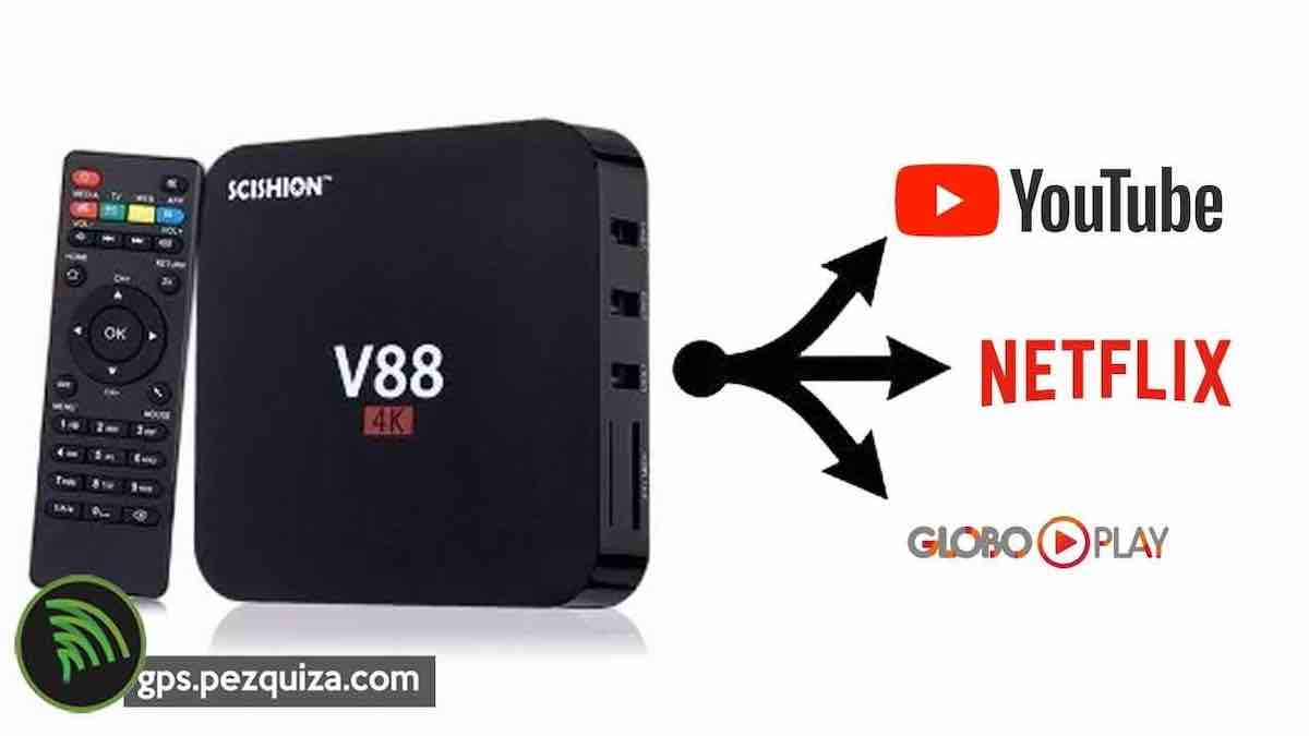 TV Box V88 Teste Gearbest