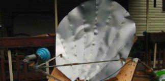 antena parabólica de madeira