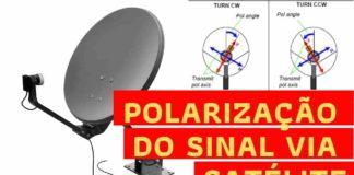 polarização do sinal do satélite