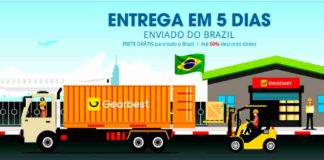 Armazém Gearbest Brasil entrega rápida