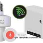 Ligar ou desligar lâmpadas com comando de voz ok google sonoff slampher sonoff mini