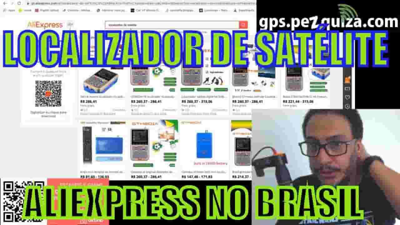 localizador de satélite aliexpress armazém brasil