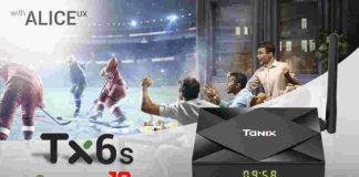 tv box android 10 tx6s tanix