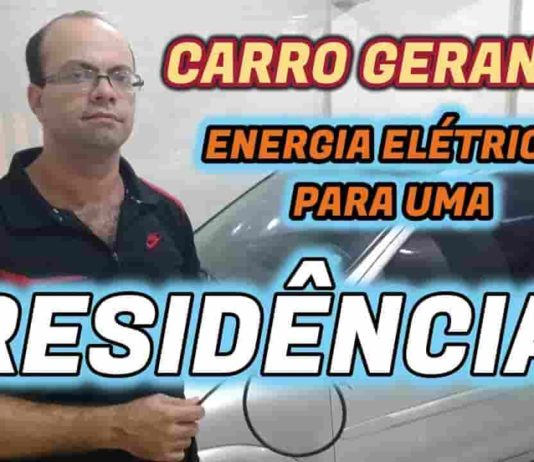carro gerando energia para casa