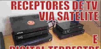 Receptor de tv digital via satélite, conversor de tv digital terrestre e decodificadores de operadoras de tv por assinatura