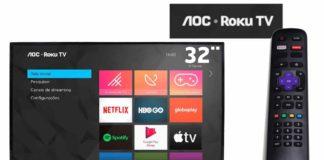 smart tv aoc roku para comprar nas lojas online