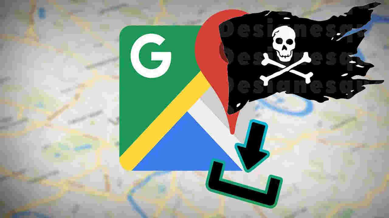 google mapas pirataria