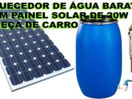 aquecer água painel solar peça carro