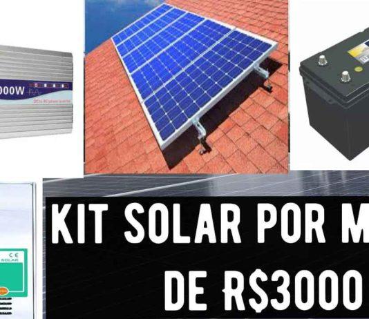 kit energia solar R$ 3 mil