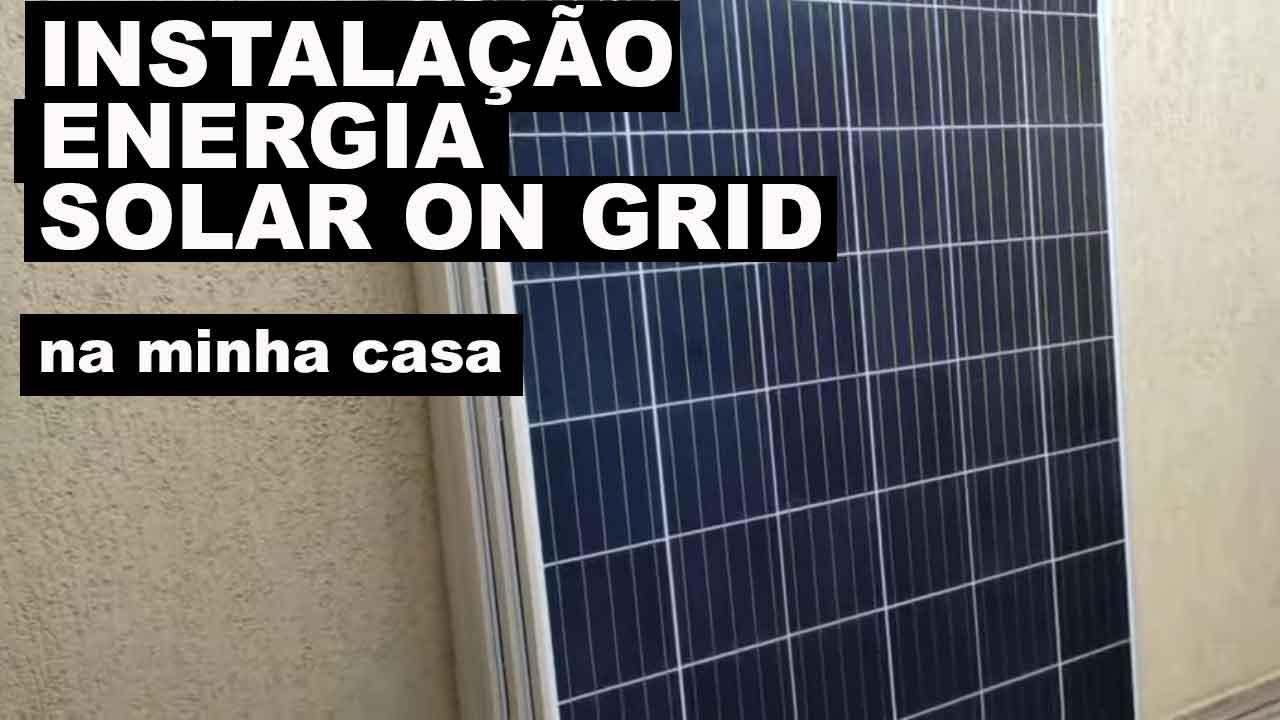 instalação energia solar on grid