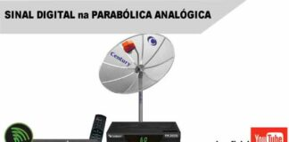 sinal digital parabolica analogica