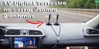 duas antenas tv digital terrestre 1seg carro