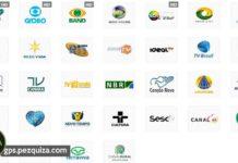 todos os canais da tv digital terrestre em todas as cidades do Brasil