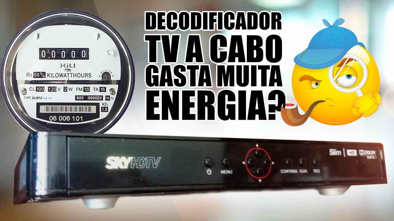 consumo energia decodificador tv por assinatura