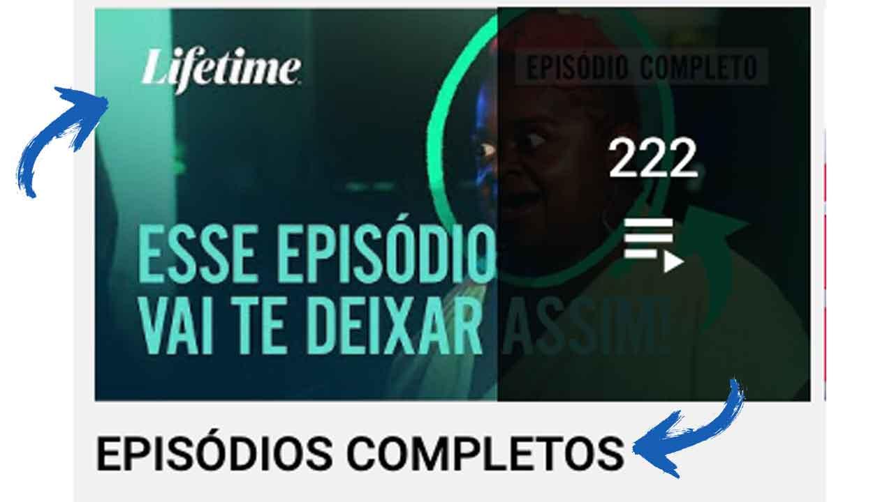 canal lifetime conteudo liberado youtube episodios completos