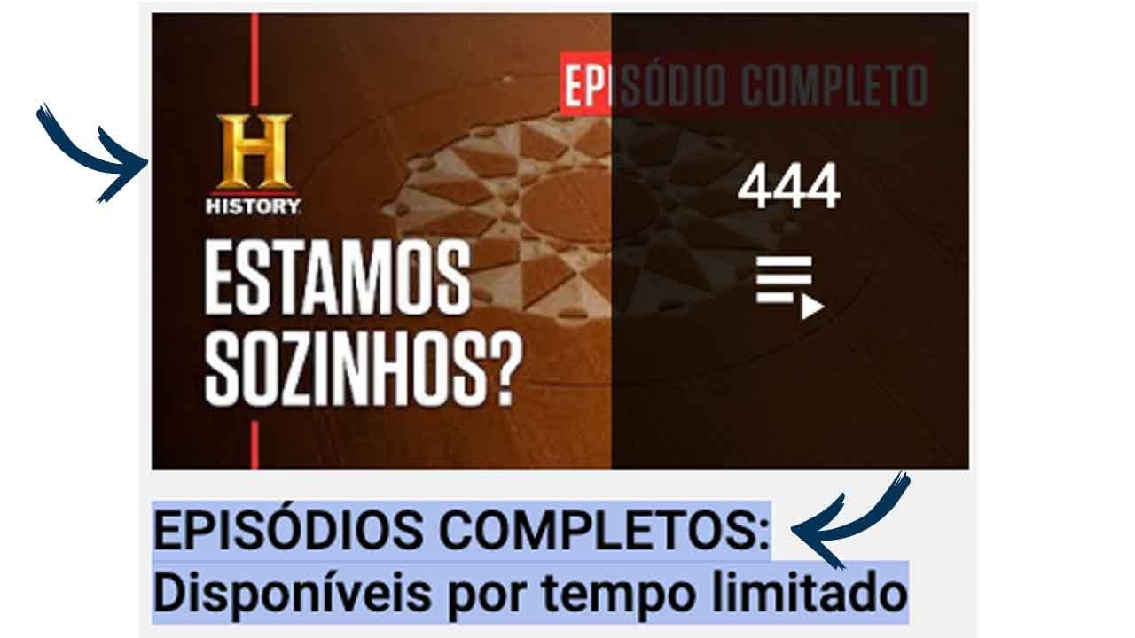 history channel brasil episodios completos gratuitos liberados