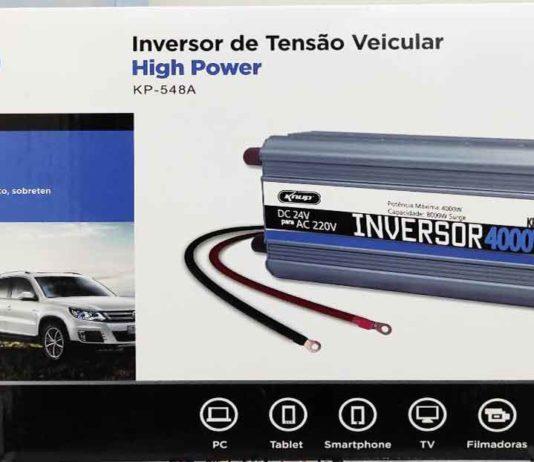 Inversor Knup 4000w 24v energia solar inversor veicular