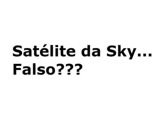 satélite da sky falso