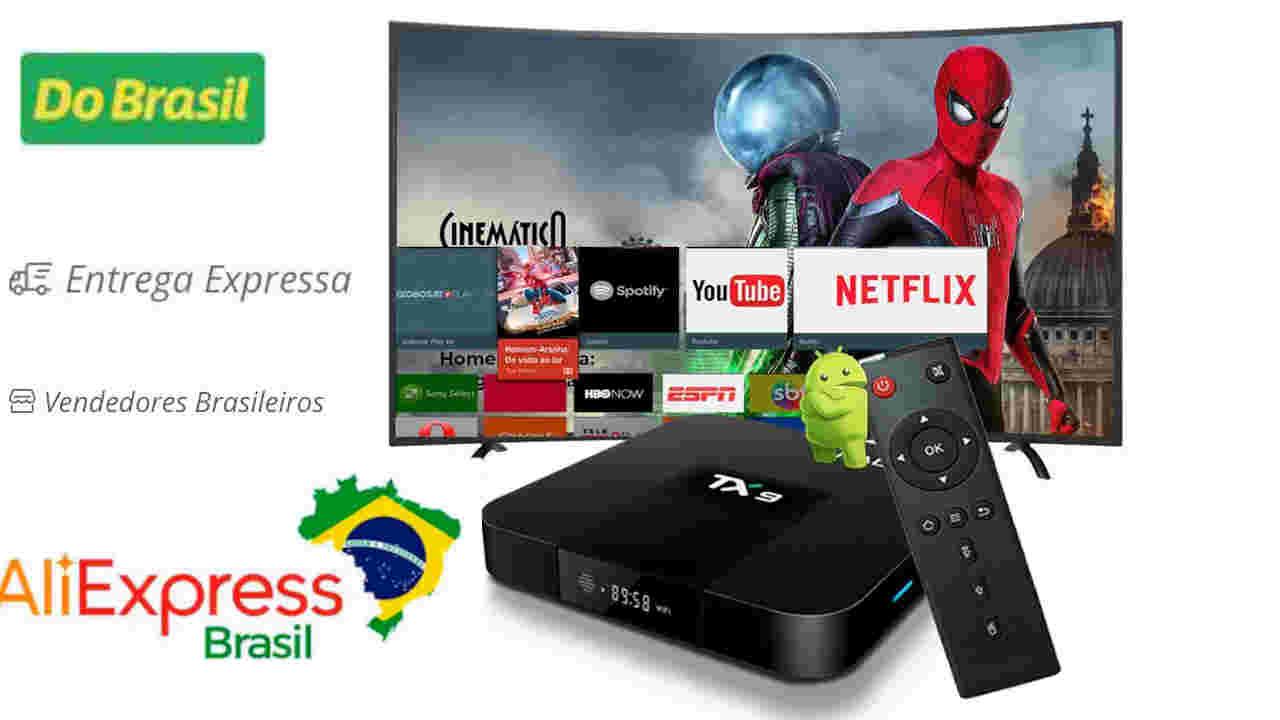 aliexpress brasil parcelamento frete grátis expresso tv box