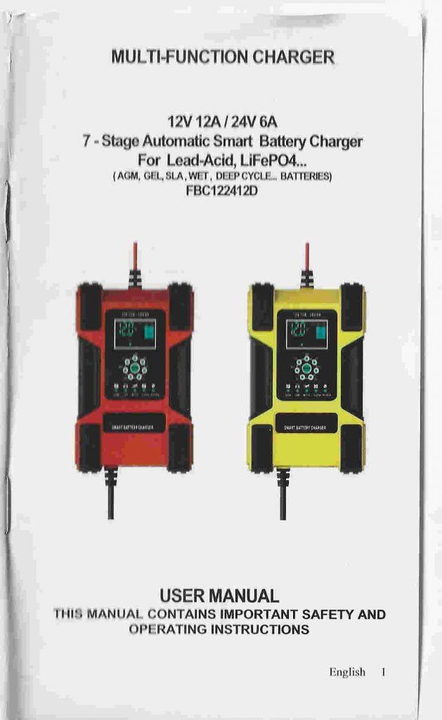 manual do usuário carregador inteligente foxsur capa