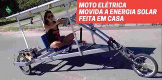 Moto elétrica movida a energia solar feita em casa