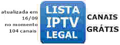 lista iptv legal 104 canais gratis ao vivo